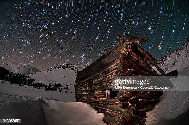 wonders of the night - north star stock photos and pictures