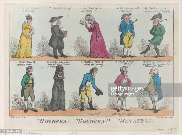 Wonders! Wonders!! Wonders!!!, [August 1, 1809], reprint. Artist Thomas Rowlandson.