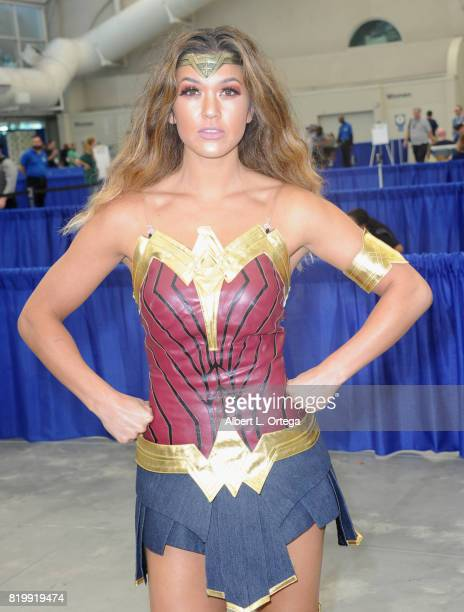 Wonderwoman cosplayer during 2017 ComicCon International at San Diego Convention Center on July 20 2017 in San Diego California
