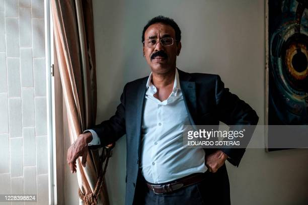 Wondimu Asamnew Director General of the Tigray Friendship Liaison Office poses for a photograph in the city of Mekele Ethiopia on September 7 2020 In...