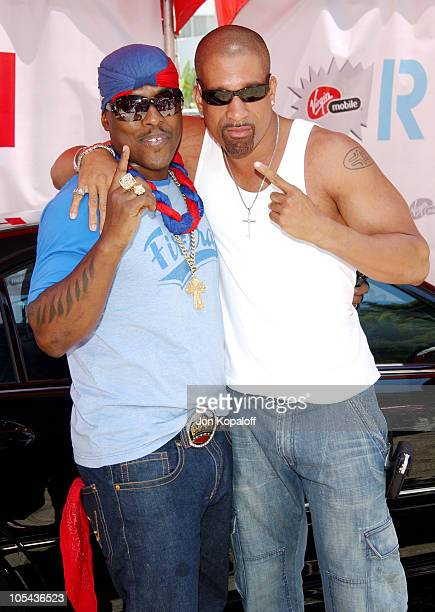 Won-G and Dorian Gregory during Virgin Mobile House of Paygoism Summer BBQ Tour at Sunset Blvd. In West Hollywood, California, United States.