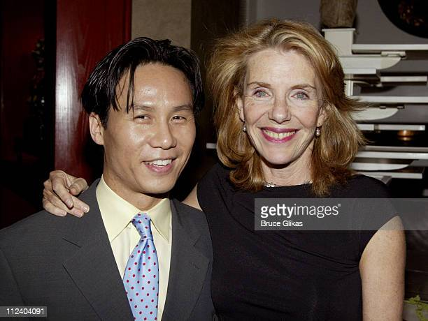 BD Wong and Jill Clayburgh during BDWong Book Release Party for Following Foo at Ruby Foo's in New York City New York United States