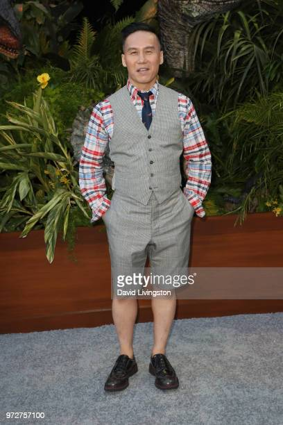 Wong attends the premiere of Universal Pictures and Amblin Entertainment's 'Jurassic World Fallen Kingdom' at Walt Disney Concert Hall on June 12...