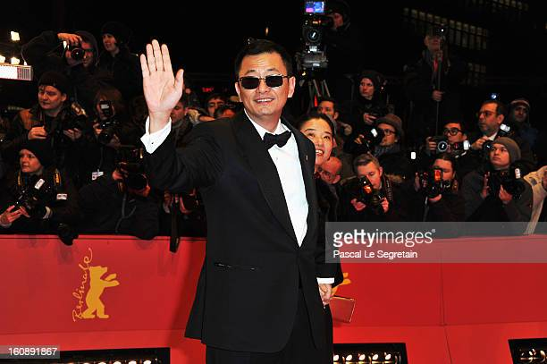Wong Kar Wai and Esther Wong attend 'The Grandmaster' Premiere during the 63rd Berlinale International Film Festival at Berlinale Palast on February...