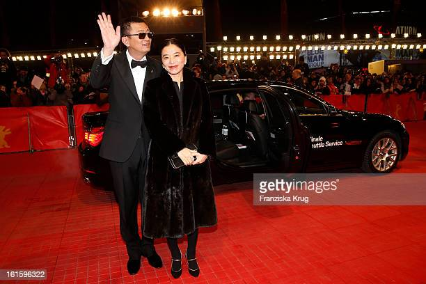 Wong Kar Wai and his wife Esther attend 'Side Effects' Premiere BMW at the 63rd Berlinale International Film Festival at Berlinale Palast on February...