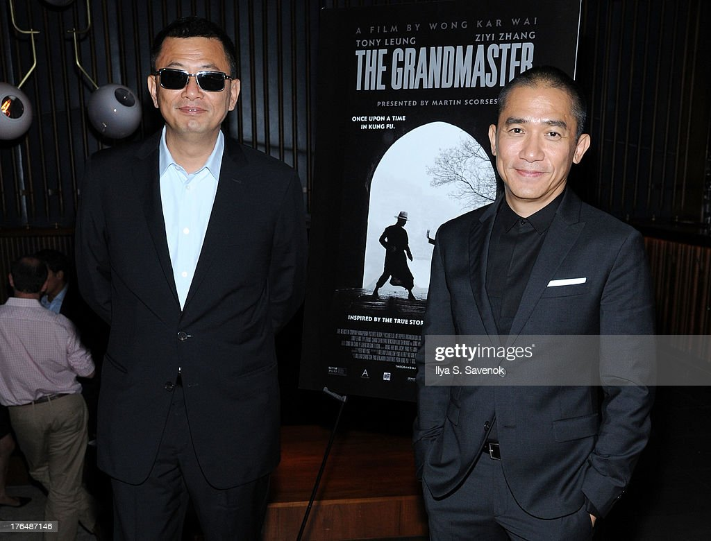 Wong Kar Wai and Tony Leung attend 'The Grandmaster' New York Screening after party at Forty Four at the Royalton on August 13, 2013 in New York City.