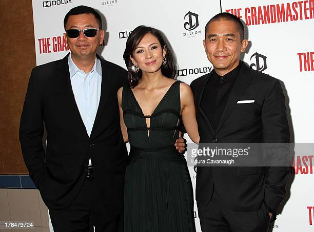 Wong Kar Wai Ziyi Zhang and Tony Leung attend 'The Grandmaster' screening at Regal EWalk Stadium 13 on August 13 2013 in New York City