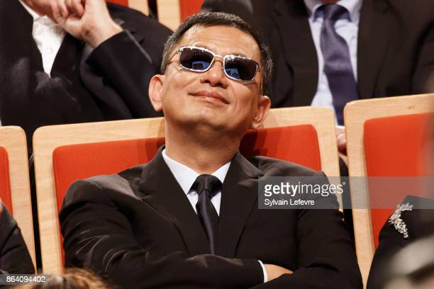 Wong Karwai attends The Lumiere Prize ceremony during 9th Film Festival Lumiere on October 20 2017 in Lyon France