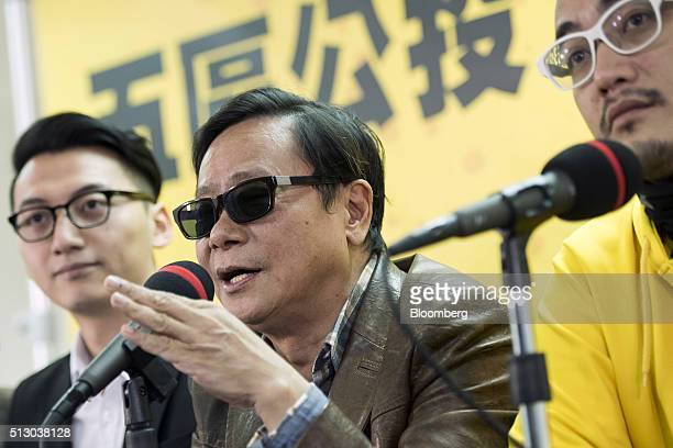 Wong Yukman a member of Hong Kong's Legislative Council speaks during a news conference in Hong Kong China on Monday Feb 29 2016 Civic Passion a...