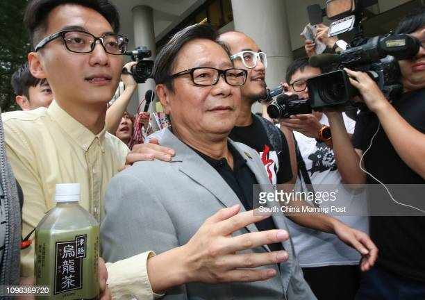 Wong Yukman with ViceChairman of Alvin Cheng KamMun and Wong Yeungtat appear at Eastern Court in Sai Wan Ho The former lawmaker vowed to appeal...