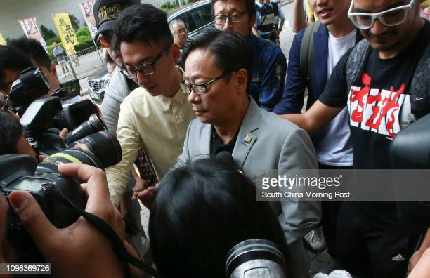 Wong Yukman with ViceChairman of Civic Passion Alvin Cheng KamMun appear at Eastern Court in Sai Wan Ho The former lawmaker vowed to appeal aganist...