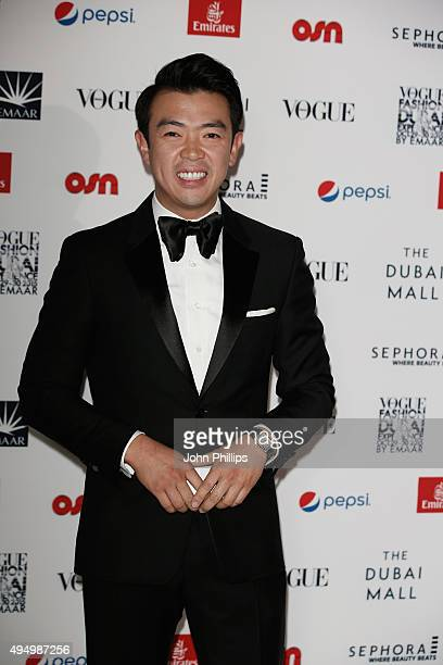 Wonho Chung attends the Gala event during the Vogue Fashion Dubai Experience 2015 at Armani Hotel Dubai on October 30 2015 in Dubai United Arab...