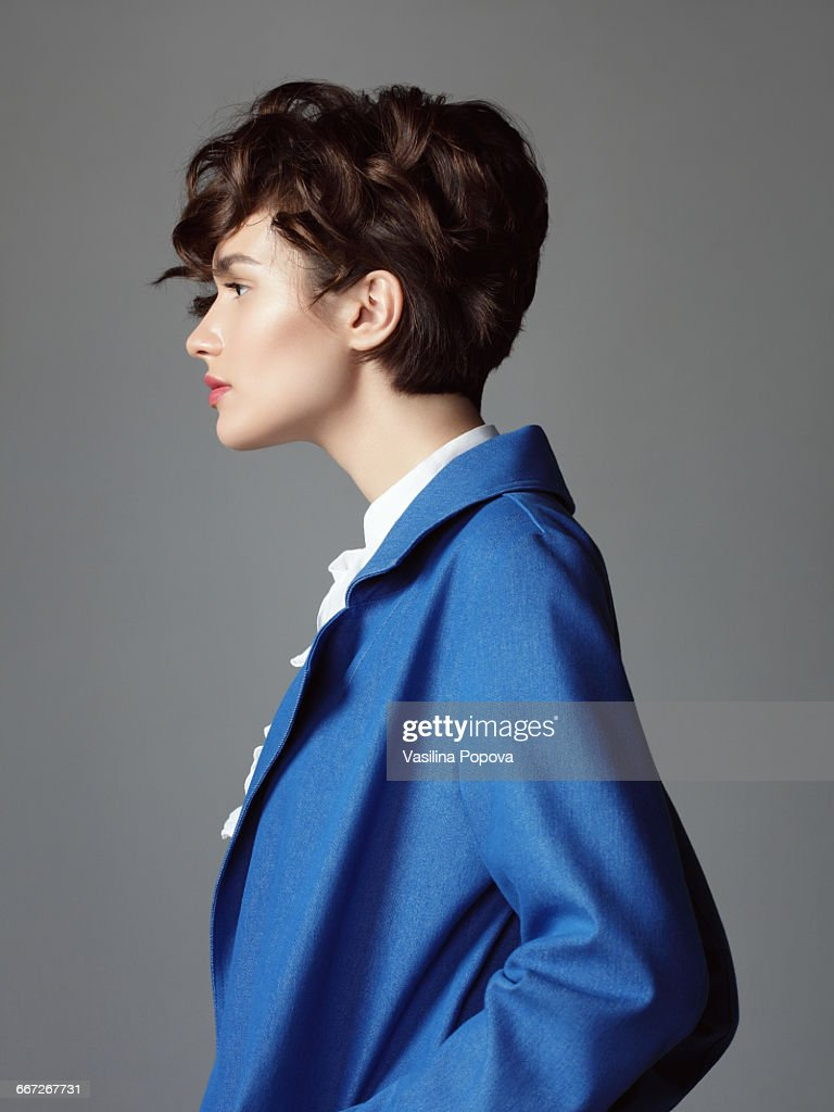 Wont in blue coat : Foto de stock