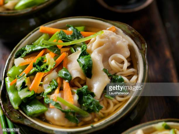 Wonton, Dumpling Soup with Noodles