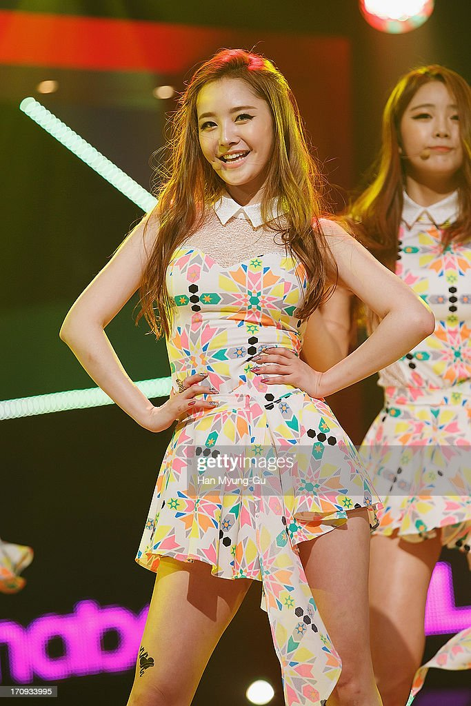 Woo Hee of South Korean girl group Dal Shabet performs onstage during the Mnet 'M CountDown' at CJ E&M Center on June 20, 2013 in Seoul, South Korea.