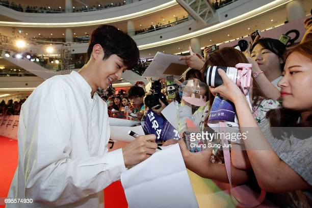 JUNE 13 Woo Shik Choi attends the Korean Red Carpet Premiere of Netflix release 'Okja at Times Square on Tuesday June 13 2017 in Seoul South Korea