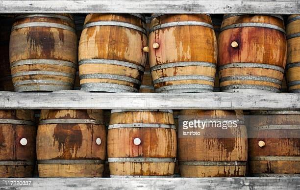 Wood Fässer für Wein.