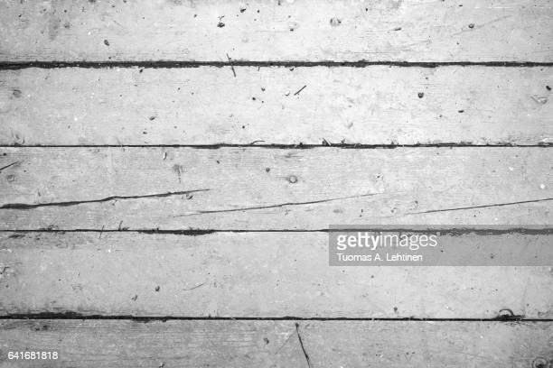 Wood board wall texture background in black&white