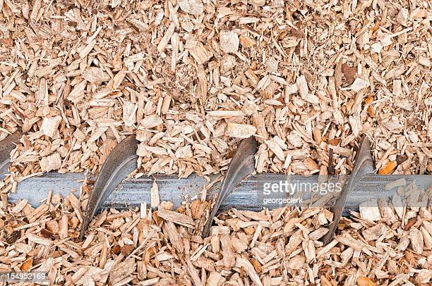 Wood Chip Auger for Loading into Biomass Boiler