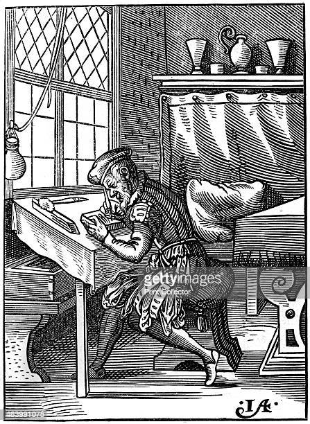 Wood engraver 16th century A 19th century version based on an original 16th century wood engraving From Le Moyen Age et la Renaissance by Paul...