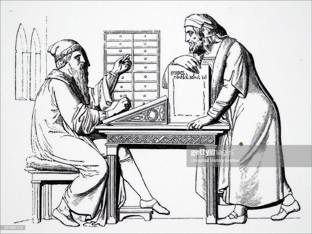 Johannes Gutenberg. : News Photo