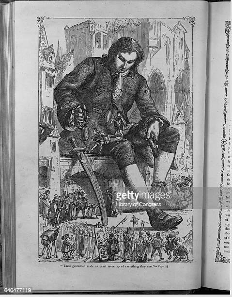 Wood Engraving From Jonathan Swift's Gulliver's Travels