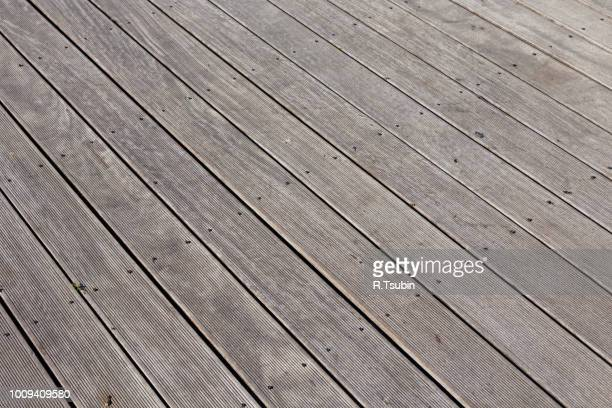 wood floor for outdoor as a texture background - floorboard stock photos and pictures