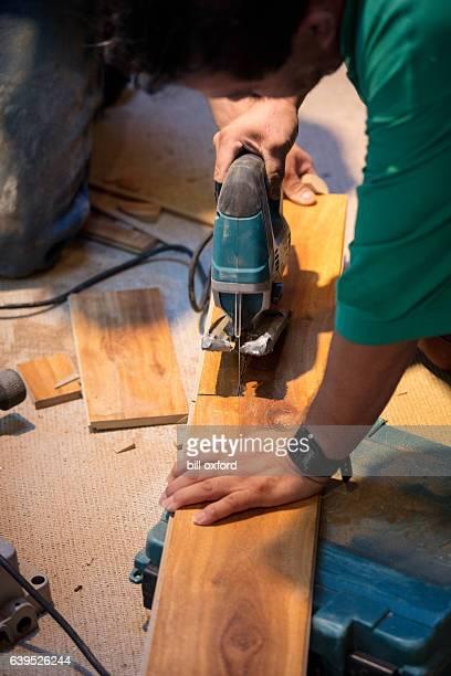 Wood Flooring Cutting