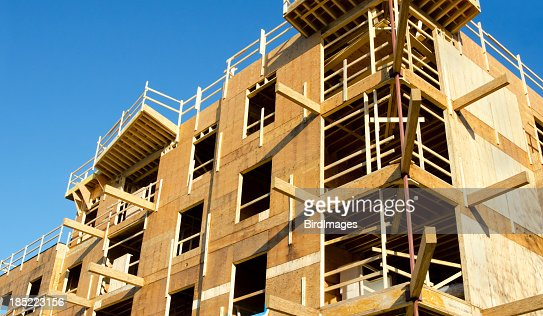 wood frame construction site stock photo getty images - Wood Frame Construction