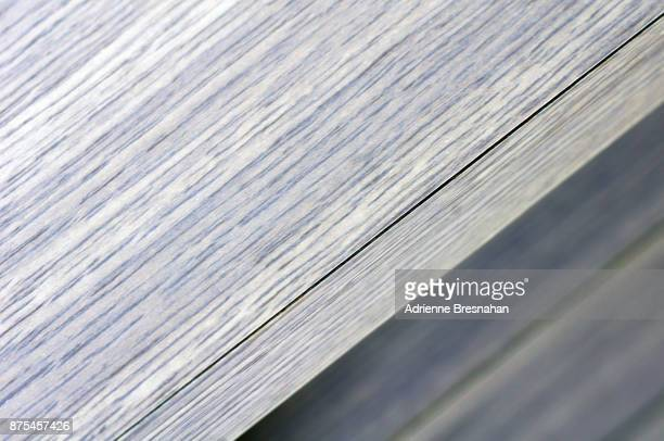 Wood Grain Surface at the Edge of a Table, Close-Up