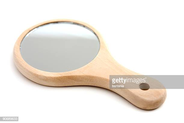 wood handled mirror - hand mirror stock pictures, royalty-free photos & images