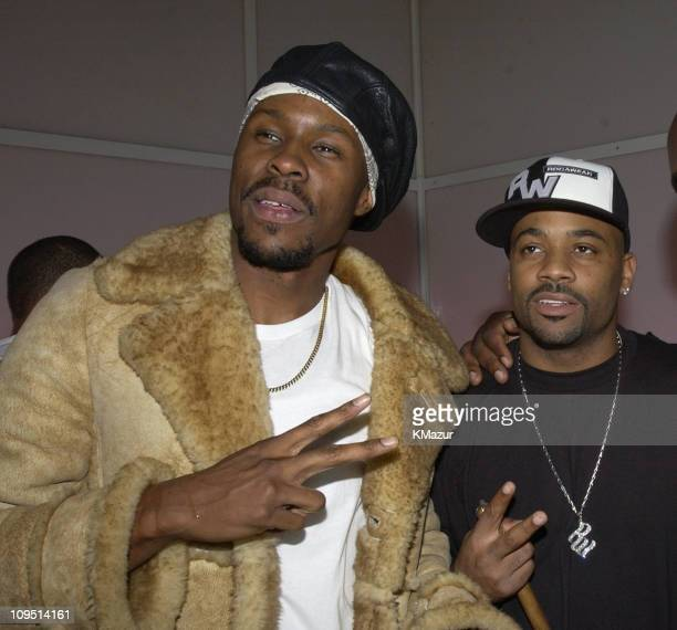Wood Harris and producer Damon Dash during Paid In Full Premiere AfterParty at SPA Nightclub in New York City New York United States