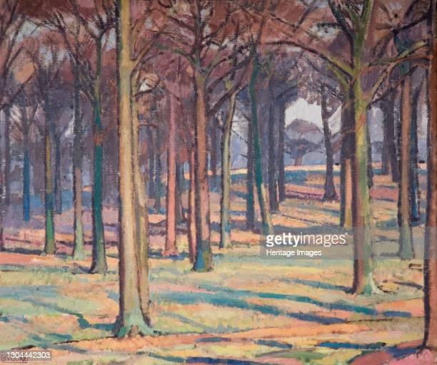 Wood in Richmond Park, 1914. Artist Spencer Gore.