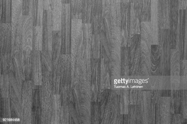 wood laminate flooring texture background in house in black and white. - gray color stock photos and pictures