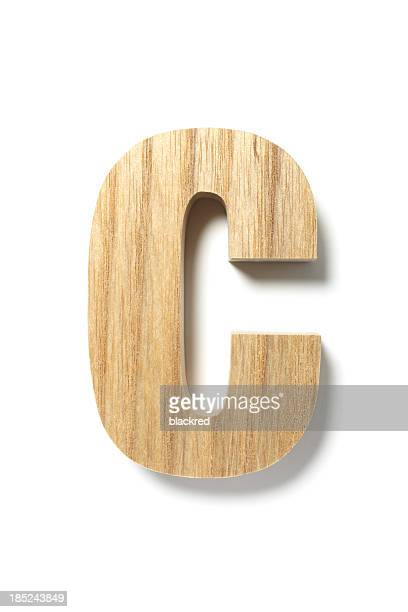 Madera letra C