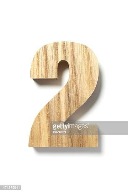 madeira número dois - número 2 imagens e fotografias de stock