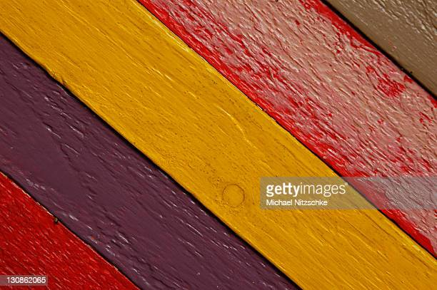 Wood, of different color painted