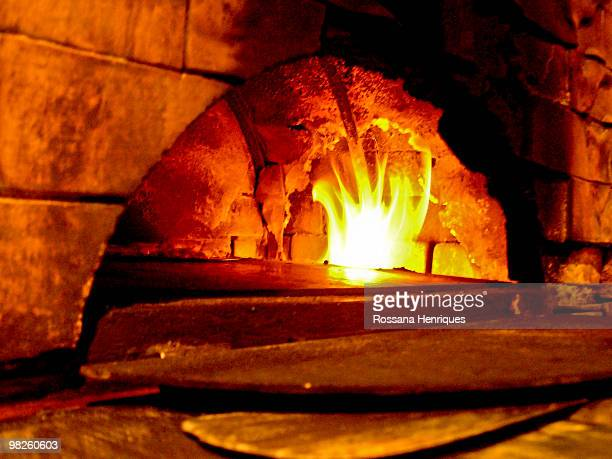 wood oven - pizza oven stock photos and pictures