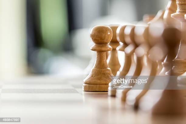 Wood pawns