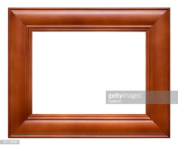 Wood Picture Frame (Clipping path!) isolated on white background