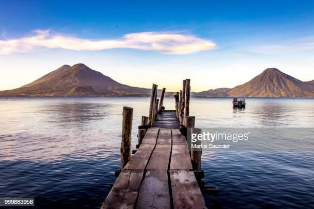 Wood pier on Lake Atitlan
