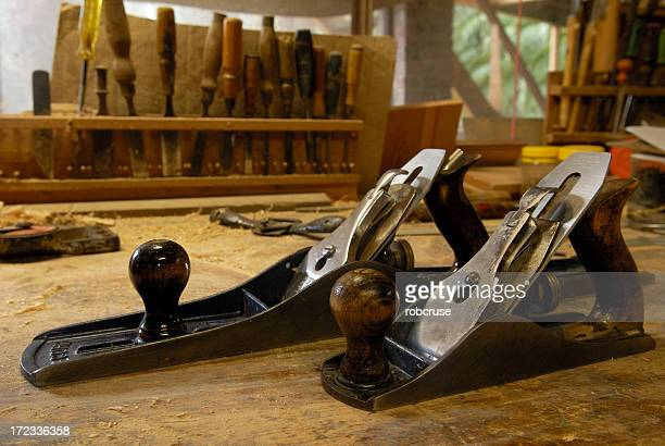 Wood Planes on a Bench