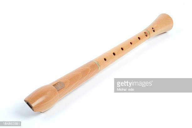 wood recorder - recorder musical instrument stock photos and pictures