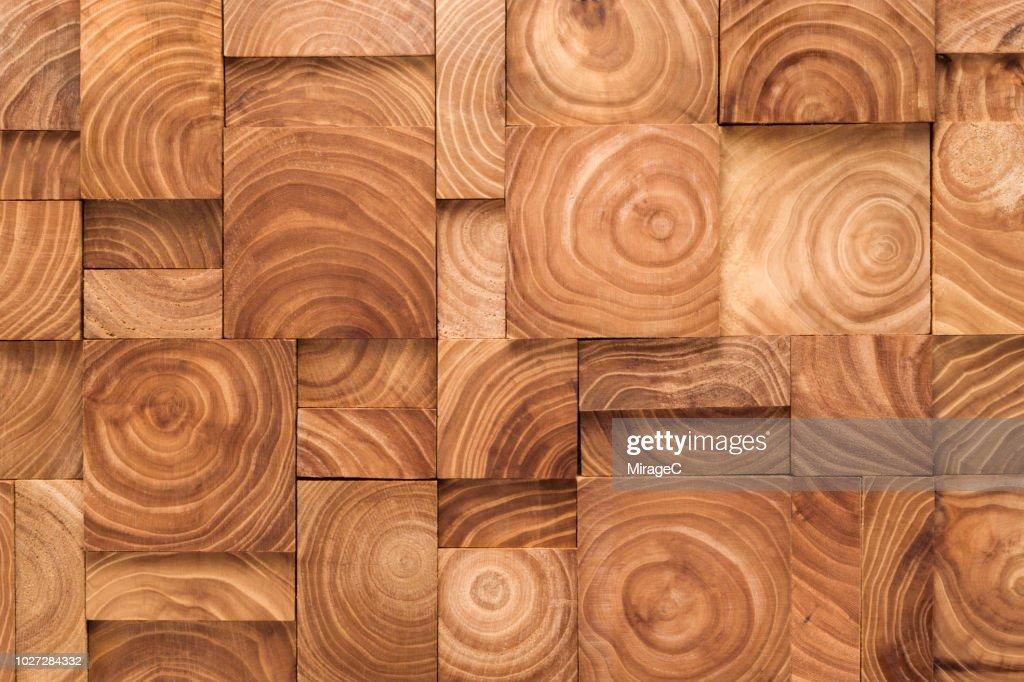 Wood Ring Pattern Blocks Collage : Stock Photo