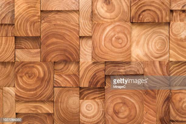 wood ring pattern blocks collage - wood material stock pictures, royalty-free photos & images