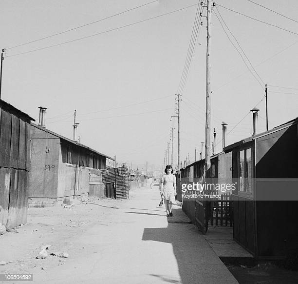 Wood Shacks On November 15Th 1953 Hosting The Homeless From The 1944 Bombings Over The Town It Will Take 20 Years To Rebuild The Town Center