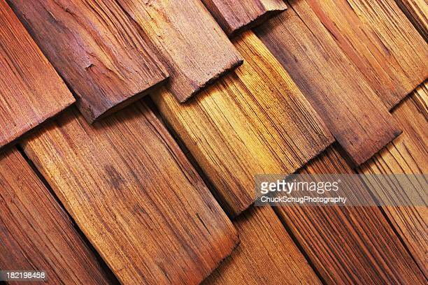 wood shingle cedar roof architecture - cedar tree stock photos and pictures
