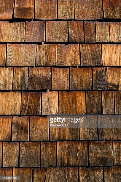 Wood shingles, close-up