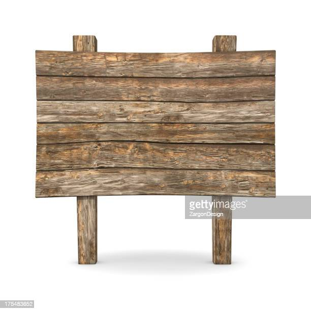 Letrero de madera