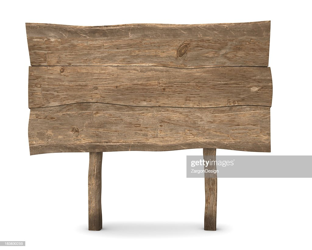 Holz Schild : Stock-Foto